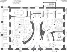 Hotel luxe brio restaurant on behance, hotel restaurant floor plan Restaurant Layout, Restaurant Floor Plan, Rooftop Restaurant, Restaurant Ideas, Restaurant Seating, Coffee Shop Interior Design, Interior Desing, Restaurant Interior Design, Arquitetura