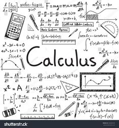 Calculus law theory and mathematical formula equation doodle handwriting icon in white isolated paper background with handdrawn model for education presentation or subject title, create by vector Algebra, Vector Calculus, Geek Decor, Online Lessons, Online Tutoring, Deep Learning, Study Notes, Paper Background, Worksheets