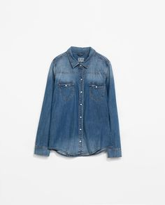 Image 6 of BASIC DENIM SHIRT from Zara