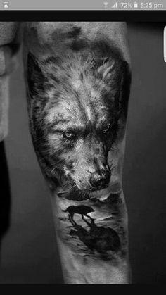 Lone wolf tattoo idea