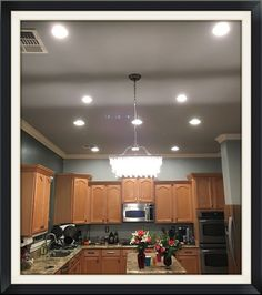 Recessed Ceiling Paint The Ceiling To Match The Wall Paint Color - How to install led lights in kitchen ceiling