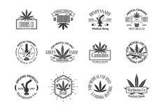 Marijuana Logos Bundle by DaryaGribovskaya on Creative Market