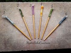 quartz hairstick, hairsticks, hair pin, crystal hair comb, reiki, chakra, bamboo hair piece, healing stones, wands, wicca wand, crystal wand by MysticBohoCreations on Etsy https://www.etsy.com/listing/614936754/quartz-hairstick-hairsticks-hair-pin