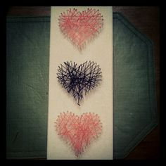 String and nail art.