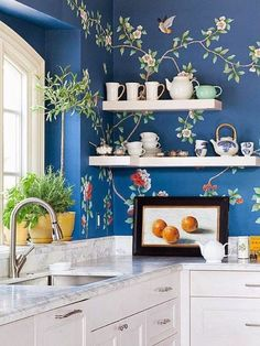 Picture of How to Decorate Wall in the Kitchen – Playful Style