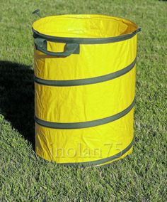 COLLAPSIBLE-LEAF-TRASH-GARBAGE-GARDEN-STORAGE-CONTAINER-CAN-BAG-STAND-HOLDER