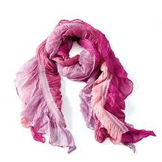 "I'm Not Neck-ed in Asheville Scarf #10600 Duotone pink rayon scarf adds a pop of color to any outfit. 55 x 19½"" $19.00"