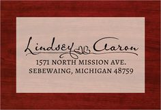 Custom Address Stamp Wedding Rubber Stamp by TailorMadeStamps, $27.00