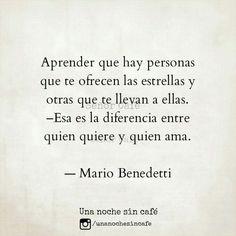La diferencia entre querer y amar #Mario #Benedetti #Uruguay