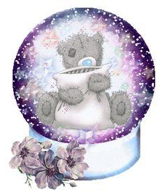 Cute Tatty Teddy In Glass Ball Graphic