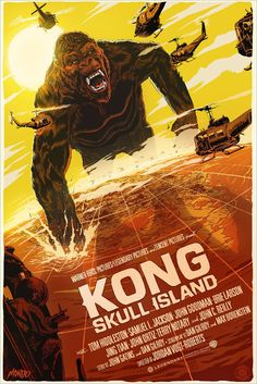 "Movie Synopsis: ""A team of scientists explore an uncharted island in the Pacific, venturing into the domain of the mighty Kong, and must fight to escape a primal Eden.""  More Francesco Francavilla AMPs: Francesco Francavilla  Artists Website: http://www.francescofrancavilla.com"