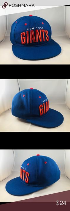 sports shoes aee44 e5407 New York Giants Vintage NFL Football Cap Hat New York Giants Hat - one size  fits