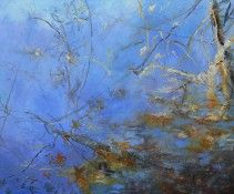 Kathleen Earthrowl, Moment at the Pond 2011, 60  x  72, oil on canvas