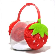 Celebrate National Ear Muff Day with cute versions of the classic. Cute Strawberry shape Children's Ear Muffs