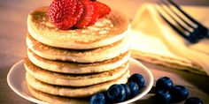 These yummy whole wheat pancakes made with cottage cheese are packed with protein. A satisfying way to start your day!