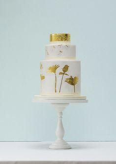 Rosalind Miller Gold Silhouette wedding cake