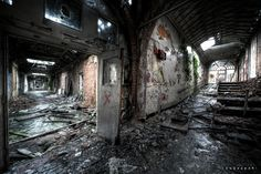 """https://flic.kr/p/9ngWXi   Horror asylum in decay   From the """"1000 miles and running"""" tour. 10 urbex locations all around UK in 4 days.   In the late 1960s this mental asylum was referred to as """"Horror Hospital"""" in the papers due to mistreatment of patients.  They were locked into small rooms and in outside airing courts in all weather, dragged by their hair, nurses setting fire to patients cloths and slippers, beaten etc.   On tour with <a ..."""