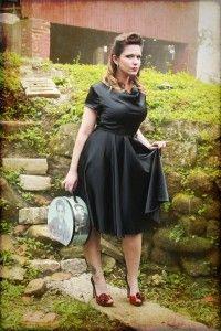 vestido pin up glam preto