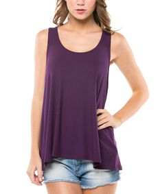 Magic Fit Purple Racerback Tank by Magic Fit #zulily #zulilyfinds