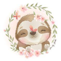Cute Images, Cute Pictures, Doodles Bonitos, Cartoon Mignon, Baby Animals, Cute Animals, Baby Animal Drawings, Art Mignon, Cute Doodles