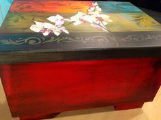 Pintura en acrílico – Caja estilo étnico latino