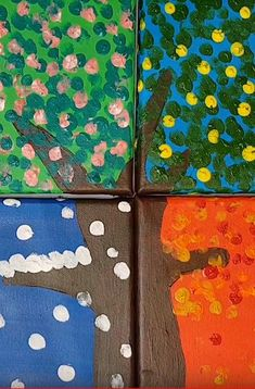 Easy to make and very decorative. Tutorials, Seasons, Canvas, Easy, How To Make, Pictures, Painting, Beautiful, Decor