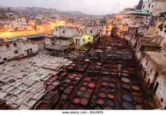 Fez - Morocco - leather dyeing pans - need to see these