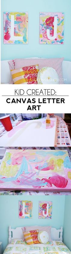 Make these adorable painted letter canvases with your kids! They always turn out super cute and make great gifts!