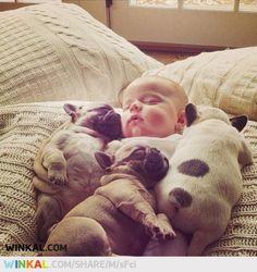 Sleeping together...