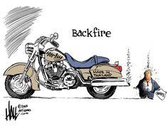 Ed Hall Ed Hall @halltoons · Jun 26 Artist @EdHall : Trumpster fire.. #HarleyDavison #tariffs #Trade #TradeWar #motorcycles #Manufacturing #jobs #MAGA #winningnot @laloalcaraz @co_rapunzel4 @MaggieJordanA