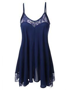 LE3NO Womens Sheer Chiffon Lace Sleeveless Tunic Top