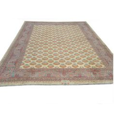 One-of-a-kind Meshkabad rug is unrivaled in size and materials   Hand-woven Persian rug is crafted from 100-percent fine lamb's wool  Currently believed to be the largest floor rug of its kind in the United States
