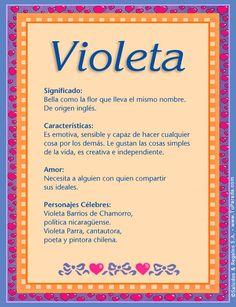 Violeta, imagen de Violeta