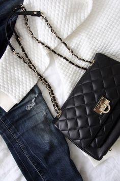 Homevialaura | Basic Apparel Boxit G-Bomber from boutiquerosa.se | DKNY bag | ripped jeans