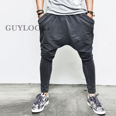 Street-edge Vintage Bio Washed Mens Drop Crotch Low Baggy Sweatpants By Guylook | Clothing, Shoes & Accessories, Men's Clothing, Pants | eBay!