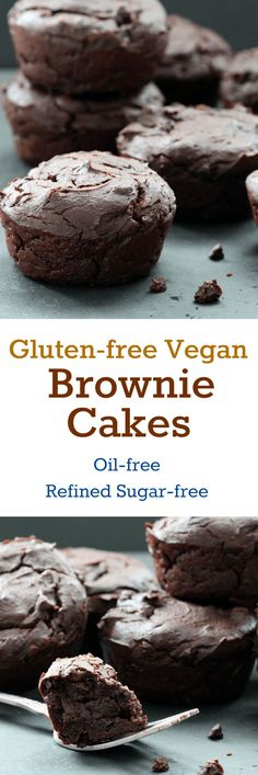 Gluten-Free Vegan Brownies (Oil-free, Nut-free, Refined Sugar-free) #glutenfree #vegan #oilfree