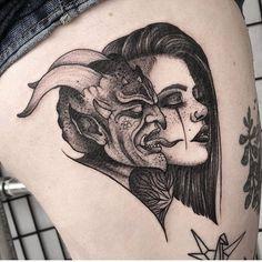 Satanic Tattoos, Evil Tattoos, Spooky Tattoos, Dope Tattoos, Dream Tattoos, Badass Tattoos, Future Tattoos, Body Art Tattoos, Sleeve Tattoos