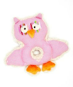 Another great find on #zulily! Pink Owl Rattle Ring Plush Toy by Stephan Baby #zulilyfinds