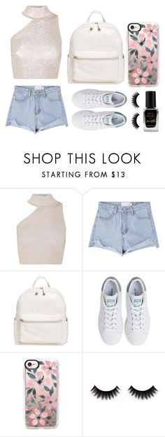 """""""Crop top"""" by dakota4-1 ❤ liked on Polyvore featuring Cushnie Et Ochs, BP., adidas, Casetify and Barry M"""