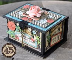 Learn how to make this Couture jewelry box just in time for Mother's Day! What a great idea from Susan Lui! #graphic45 #tutorials