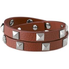 Stella & Dot pyramid stud wrap bracelet Double leather wrap bracelet with silver pyramid stud hardware. Adjustable closure. Can be worn alone or in a stack! Last photo is just for reference as to how this piece looks with a stack, this piece is camel/silver.  Stella & Dot Jewelry Bracelets