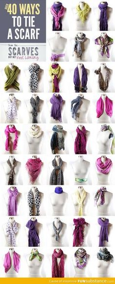 Ways to tie a scarf - FunSubstance.com on imgfave
