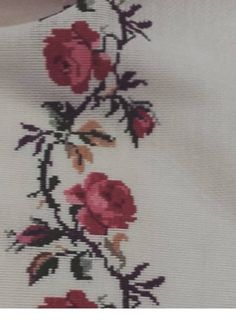 Leaf Tattoos, Cross Stitches, Tablecloths, Herb, Vestidos, Rose Bouquet, Hardanger, Dots, Needlepoint
