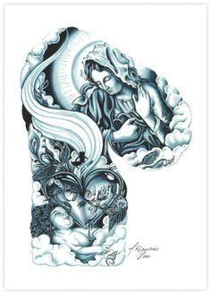 Holy Mary sleeve