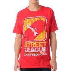 Street League Scribble Red Tee Shirt