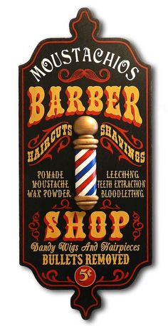 Barber Shop - Personalized Dubliner Wood Sign More
