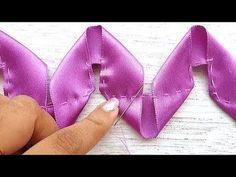 Smart And Creative Ribbon Art With New Ideas,Crafty DIY Ideas - ribbon crafts Satin Ribbon Flowers, Ribbon Art, Diy Ribbon, Ribbon Crafts, Flower Crafts, Fabric Flowers, Diy Crafts, Ribbon Sewing, Sewing Diy
