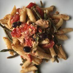 On the menu tonight: salmon nicoise pasta