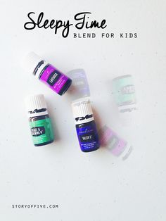 Sleepy Time Essential Oil Cream + Roller Recipe and Diffusing Blend for Kids