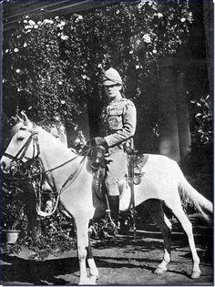 Winston Churchill in India in 1896.  Here he was serving as part of the 4th Queen's Hussars.